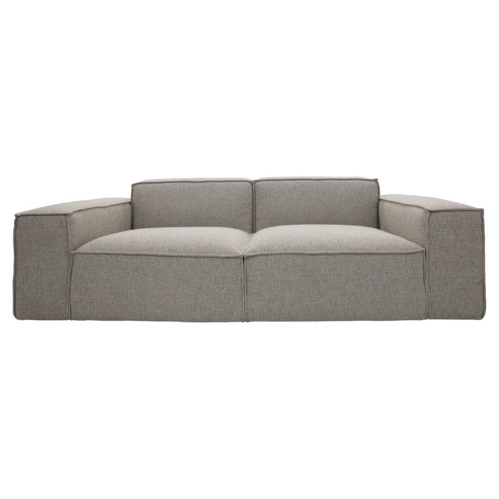Atticus 3 Seat Sofa Pepper No Cushion_1 Front