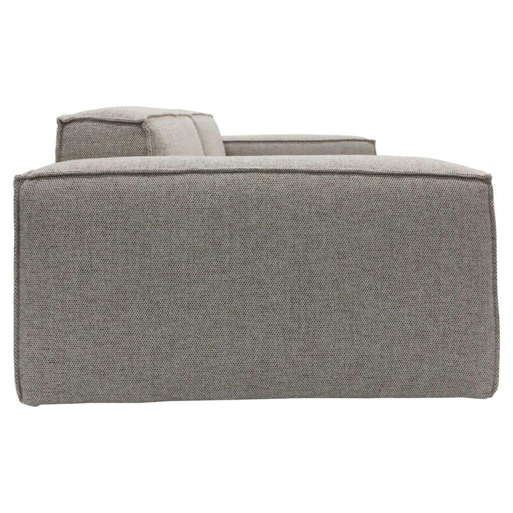 Atticus 3 Seat Sofa Pepper No Cushion_2 Side