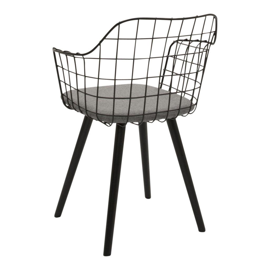 Loft Dining Chair Black_3 Back Angle_1