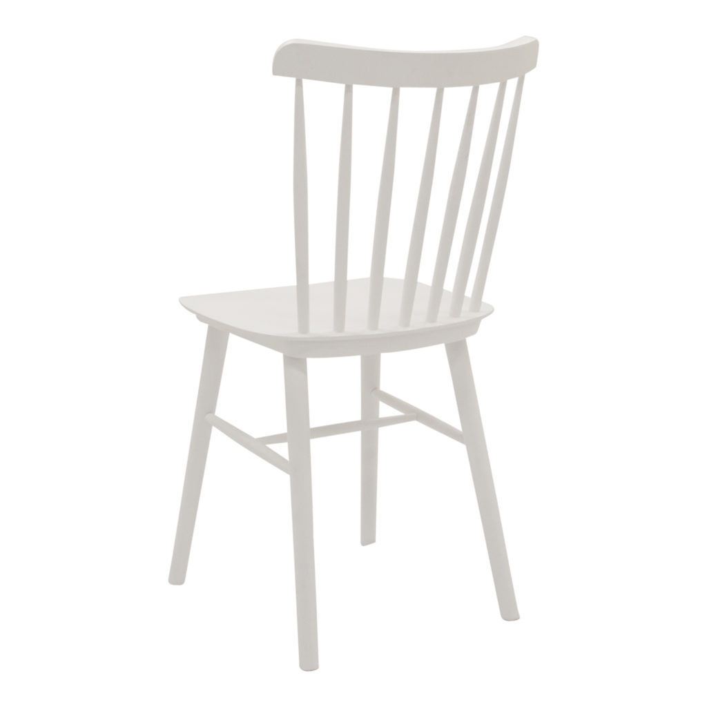 Spindle Dining Chair White_3 Back Angle_1