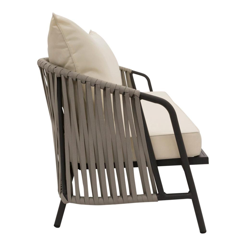 Anchor Outdoor Sofa White-Gunmetal_2 Side