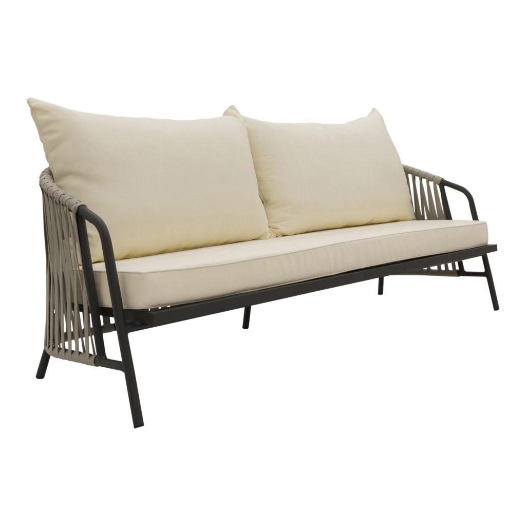 Anchor Outdoor Sofa White-Gunmetal_3 Front Angle