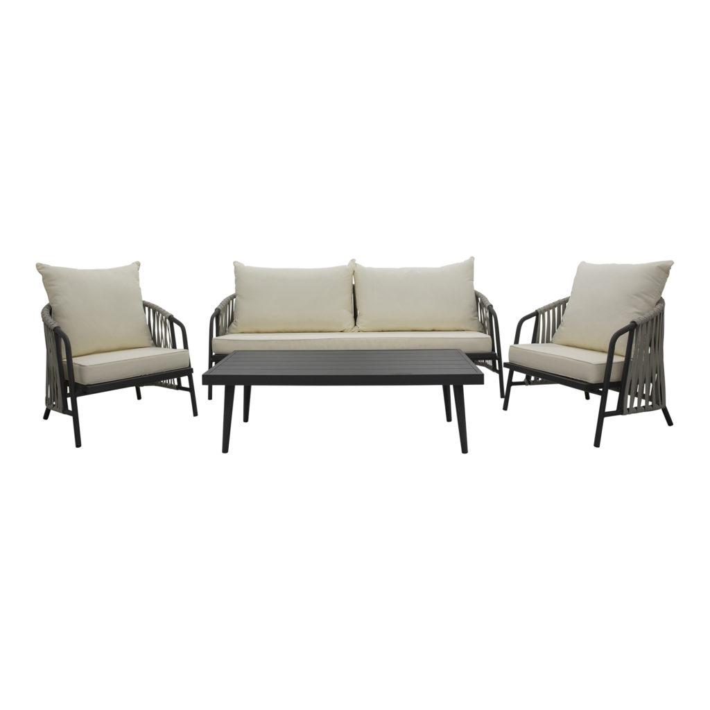 Anchor Outdoor Sofa White-Gunmetal_Set