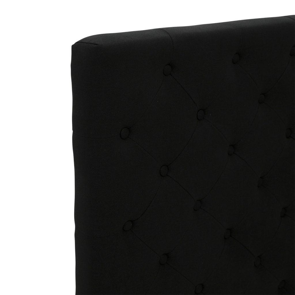 Buttoned Queen Headboard Black_3 Detail