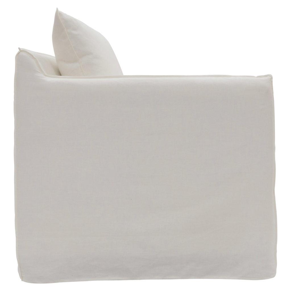Ellery Armchair White_2 Side