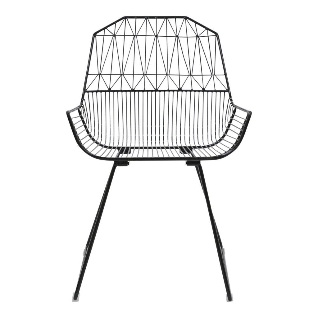Lattice Outdoor Occasional - Armchair Black_1 Front