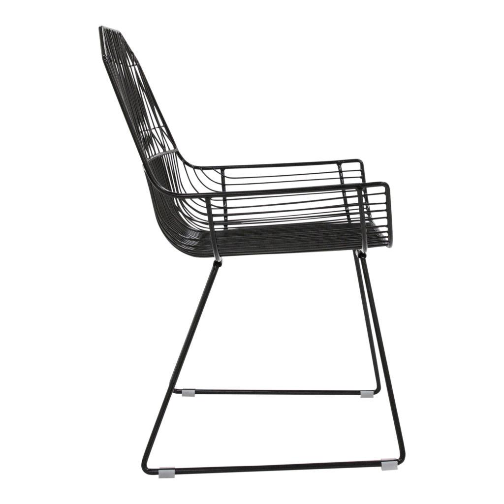 Lattice Outdoor Occasional - Armchair Black_2 Side