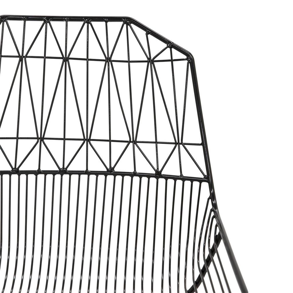 Lattice Outdoor Occasional - Armchair Black_5 Detail
