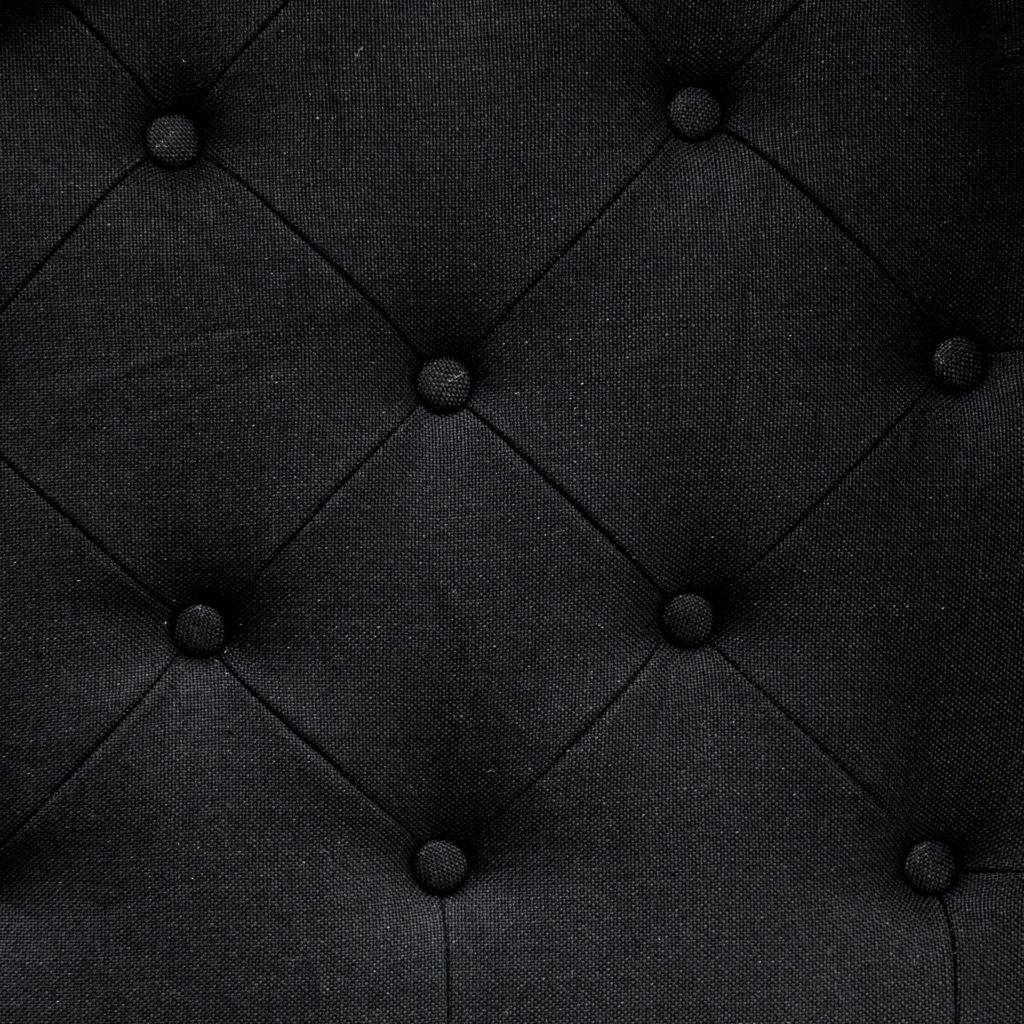 Buttoned Queen Headboard Black_4 Material